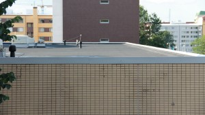 Winter Flat-Roof Drainage System Issues
