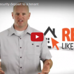 How to return a security deposit to a tenant