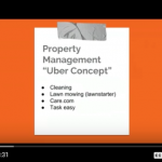 How does the Uber concept relate to the property management industry