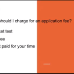 How much should I charge for an application fee